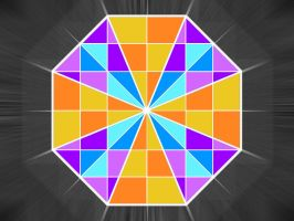Colorful Hexagon by icy-cool