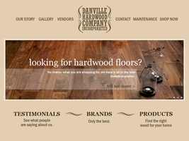 Danville Hardwood Website by Rashanka