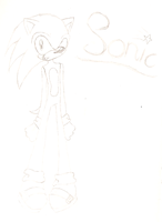 Teaser Sonic Sketch by AnjelFeather