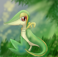 Pokemon: Snivy by Ink-Leviathan