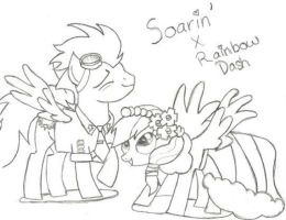 Soarin' X Rainbow Dash by Andie143lovesanime