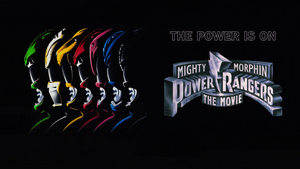 MMPR The Movie (Green and White Ranger) Fan Poster by RaidenRaider