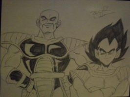 Vegeta and Nappa Saiyan Saga by HotIceHilda2011
