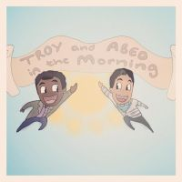 Troy and Abed in the Morning! by charli-art