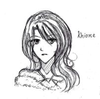 Doodle: Khione by winter-monsoon