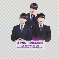 3 PNG JungKook Cut by @nochicens by HoJiPark