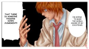 Death Note manga panel colored by Indignation