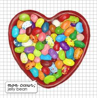 my heart: jelly beans by montendo
