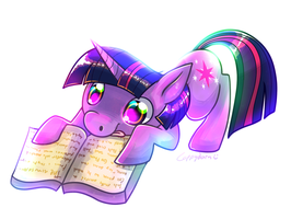 twilit readin a book by cappydarn