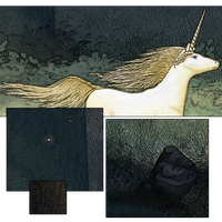 Graphic Novelesque Unicorn -- Details by oddmountain