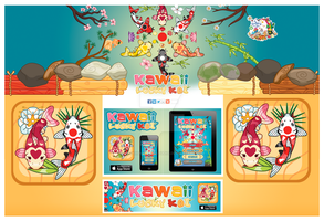 Kawaii Lucky Koi Webpage by KawaiiUniverseStudio
