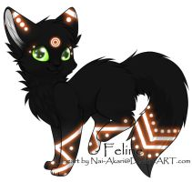 Feline Adoptable ~ 3 by BiahAdopts