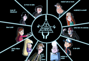 The Bill Cipher Wheel by E350tb