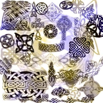 Celtic Knotwork Brushes by memories-stock