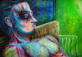 The artist by PixieCold