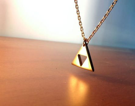 Gold plated Zelda Triforce by milkool