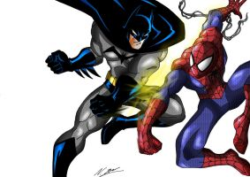 Bats Vs Spidey by taresh