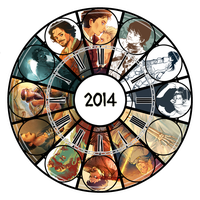 2014 art summary by Dreki-K