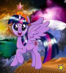 Twilight Sparkle wields the Space Gem by ZiemosPendric