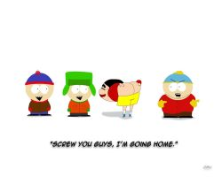 Shin Chan visits South Park by CAWalizer