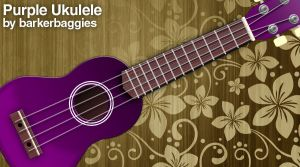 Purple Ukulele by barkerbaggies