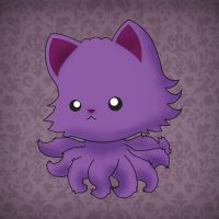 Fuzzy Purple One by TentacleKitty