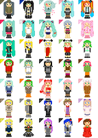 Vocaloid Song Cursors (v2) by pineapplecupcakes