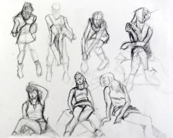 female in various poses by ebubba