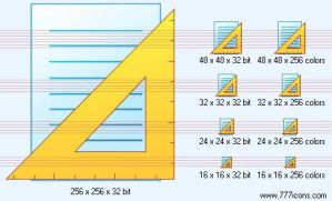 Set square page ruler Icon by paper-icons