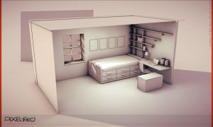 Teenage room interior WIP by Pixel-ified