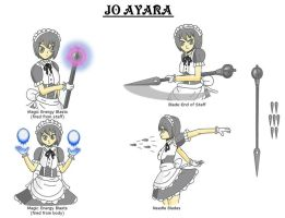 Jo Ayara FC Reference - Weapons and Other Powers by Hexidextrous