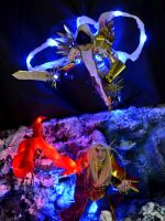 Tyrael vs Kael'thas Sculptures by Butterfly-Kitsune