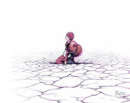Gaara and the Empty Desert by Nick-Ian