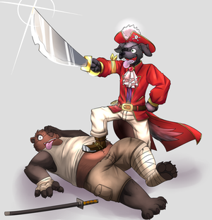 Pirate Dog (Commission) by PencilTips