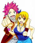 Natsu and Lucy (1) by OneColoredLily