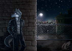 Warehouse Wolf - commission by mmishee