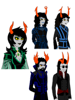 HS AU 'Or8' Talksprites Part 2: Ancestors by Warcry31