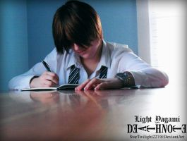 Light Yagami: Working Hard by Damek0Masca