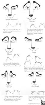 How to Draw Wolf Expressions by schoolofwsm