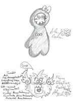 pencil scribbles FBF and ghost by Kittychan2005