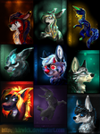 All ''glow'' commissions so far by Kirwick