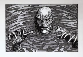 Ben Chapman as The Creature from The Black Lagoon by colemunrochitty