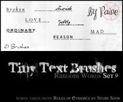 Tiny Text Brushes Set 9 by NemesisDivina666