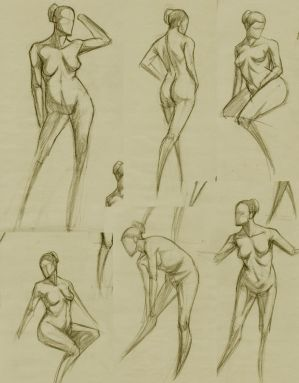 Figure studies. by RoscoeFink