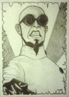 Dr Steel - Sketch card by mikegee777