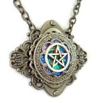 Rainbow Lake Pentacle Gunmetal by HoneyCatJewelry