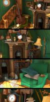 Disney Classic Scenes close-up by pixelbudah