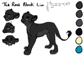 TheRealBlackLion Ref Sheet by TheRealBlackLion