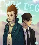 The Dark Dog and The Puppy by akusaru7