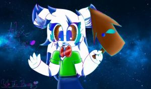 Yuli the bunny made this!!!!! by AlexAztec